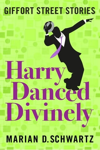 Book cover showing silhouette of dancing man tipping his hat gleefully, his tie flying. Marian D. Schwartz